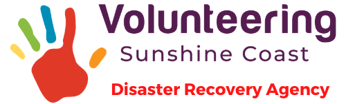 Volunteering Sunshine Coast Disaster Recovery Agency Logo Color